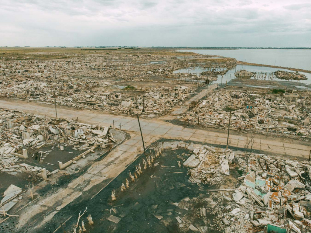 Villa epecuen from above